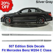 507 Style Side Stripes Decal Vinyl Sticker for Benz W204 C Class AMG Silver Grey