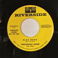 Thelonious Monk Blue Monk Remember EX RIVERSIDE PROMO RARE!