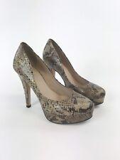 Carvela KG Sexy Ladies Beige Leather Animal Print Court Heels Shoes UK3 EUR36