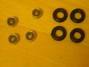"""1/43rd scale 15"""" cast  wire wheels  and tyres by K&R Replicas"""