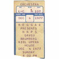 NRPS & DAVID BROMBERG Concert Ticket Stub ST LOUIS MO 12/4/77 KIEL GRATEFUL DEAD