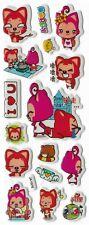 3D puffy Stickers ALI the FOX 🦊 I 💔 U