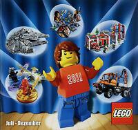 Prospekt Katalog Lego 7-12 2011 Spielzeugkatalog Spielzeug Broschüre brochure