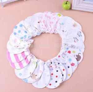6PC/Lot Newborn Baby Infant Soft Cotton Handguard Anti Scratch Mittens Gloves CA