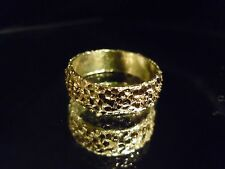 (WHY WEAR 10K,14K?) USA PLACER 22K SOLID GOLD BULLION SZ5-8 RING APM JEWELRY #4G