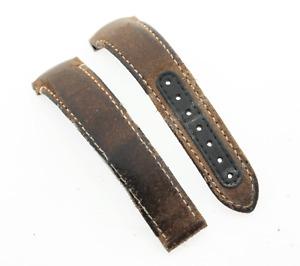 Genuine Omega Speedmaster Moonwatch Brown Leather 21mm Deployment Watch Strap