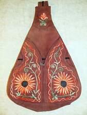 Nepal - handmade embroidered suede backpack / mochila artesanal ante / zaino