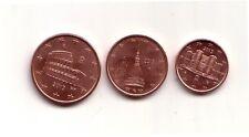 Italia serietta  1+2+5 cent  2013   FDC