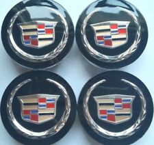 4 pcs, Wheel Emblem Center, Hub Cap, Cadillac, 66MM, Black Color Crest, 9597375