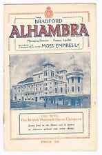 BRADFORD ALHAMBRA OPERA COMPANY IL TROVATORE 1929 TWO WEEKS