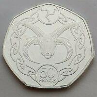 2019 Isle of Man Loaghtan Sheep 50p coin - Uncirculated