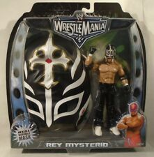 Rey Mysterio With Real Wearable Mask With Figure WWE Wrestlemania 22 Jakks(MOC)