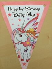 Personalised Cute Unicorn bunting / party decoration / birthday