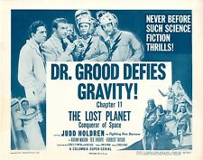 Lost Planet  Chapter 11   4 Lobby Card Set  1953  Dr. Grood Defies Gravity NM