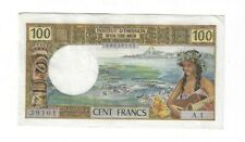 Rare Xf New Hebrides 100 Francs 1970s Sig. #1 S/N 00039101