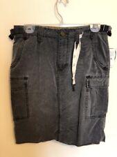 New Free People Denim Lined Knee-Length Skirt Vintage Acid Washed Black, Size 27
