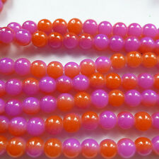 Free Ship 400pcs colourful Round glass loose spacer beads 8mm