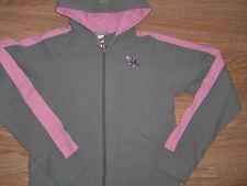 Sweat shirt A CAPUCHE .MARQUE DECATHLON. 14 ANS.VERT/ROSE.