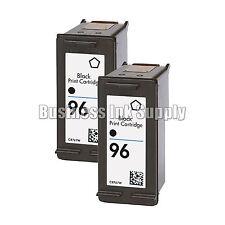 2 Black REMANUFACTURED HP 96 ink cartridge HP96 Deskjet 5740 5743