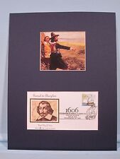 Samuel de Champlain explores America and his First Day Cover