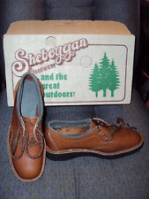 VINTAGE 1970's NEW old Stock SHEBOYGAN brand Steel toe Shoes NEVER worn size 7