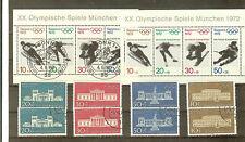 TIMBRES ALLEMAGNE  JO MUNICH 1972 BLOC N° 6 + 487 A 90 NEUFS ET OBLI. COTE € 26