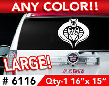 """TRANSFORMERS DECEPTICON COBRA LARGE DECAL STICKER 16""""w x15""""h  Any 1 Color"""