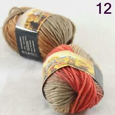 Sale Lot of 2 Skeins New Knitting Yarn Chunky Colorful Hand Wool Wrap Scarves 12