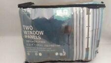 "BLC 2 pc microfiber window panels blocks light 52 w x63"" l each brown"