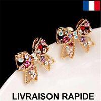 Boucle D'oreille Noeud Papillon Bijoux Femme Fille Cadeau Anniversaire Soirée