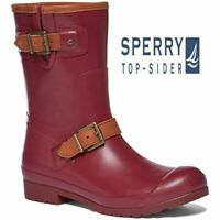 LADIES SPERRY TOP SIDER MID CALF WELLINGTONS WINTER SHOES WELLIES MUD BOOTS SIZE