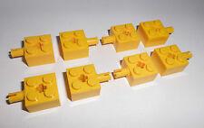 Lego (6232) 8 Basicsteine (Kreuzloch) 2x2x1 mit Pin, in gelb aus 7632 7344 5885