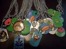 Angry Birds Space StarWars Dog Tag Necklaces BDay Novelty Gift Boy/Girl Lot of 4