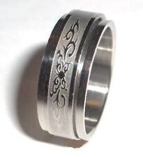 Butterfly Spinner Ring Stainless Steel Size 9