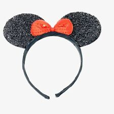 SPARKLY MINI MOUSE EARS WITH BOW ALICEBAND HEADBAND FANCY DRESS HEN NIGHTS PA...