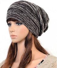 Knit Baggy Beanie Beret Hat Warm Unisex Womens Mens  Winter Oversized Ski Cap 1