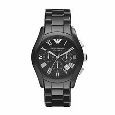 Emporio Armani AR1400 Ceramica Chronograph Date Black Men's Watch $545