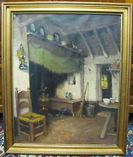 George K. Gilleespie Stube Ölgemälde Bild Gemälde Cottage Interior Landhaus