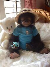 Baby BoBo Reborn Monkey Gorilla Doll Preemie Size Baby Gorilla 17 inches