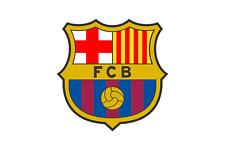 FC BARCELONA STICKER ROUND BUMPER CAR BUTTON SPANISH SOCCER FOOTBALL BATCH SMALL