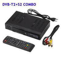 Satellite TV Receiver DVB-T2+DVB-S2 FTA HDTV 1080P Tuner Decoder Set Box f