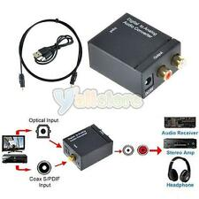 Digital Optical Coaxial Toslink Signal to Analog Audio Converter Adapter RCA WK