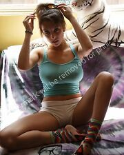 Cute Busty Sexy Girl Brunette 8x10 Glossy Photo Image Amateur Art Model Print