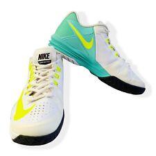Nike Lunar Ballistec Womens Tennis Shoes Size 7.5 US White, Neon & Turquoise VGC