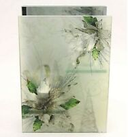 Candle Holder Frosted Glass Panel 2 T-Light Holder  Comes with Free Soy Tealight