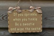 Decorative Handcrafted Wooden Sign IF YOU SPRINKLE WHEN (Brown & Cream)
