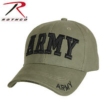 d3f6acb5718e4 Rothco 9508 Deluxe Army Embroidered Low Profile Insignia Cap - Olive Drab