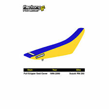 1996-2000 SUZUKI RM 125 Yellow/Blue FULL GRIPPER SEAT COVER BY Enjoy MFG
