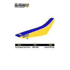 1996-2000 SUZUKI RM 125 Yellow/Blue FULL GRIPPER SEAT COVER BY Enjoy MFG