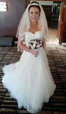 ivory wedding dress with tiara included
